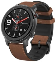 Смарт-Часы Amazfit GTR 47mm aluminium case, leather strap