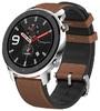 Смарт-Часы Amazfit GTR 47мм stainless steel case, leather strap, brown